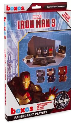 Marvel: Iron Man Movie 3 Papercraft Activity Set