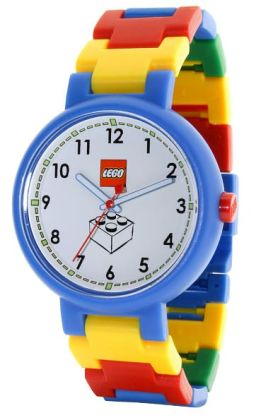 LEGO white dial with brick adult watch