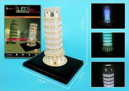 Daron 15 Piece 3D Puzzle - Leaning Tower of Pisa with Base & Lights