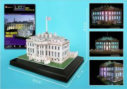 Daron 56 Piece 3D Puzzle - White House with Base & Lights