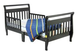 Dream On Me, Sleigh Toddler Bed, Black