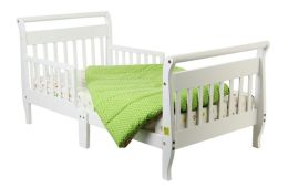 Dream On Me, Sleigh Toddler Bed, White