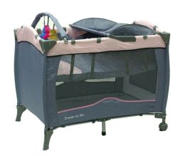 Dream On Me, Incredible 2 Level Full Size Play Yard with Changing Top, Pink