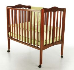 Dream On Me,  2 in 1 Lightweight Folding Portable Crib, Cherry