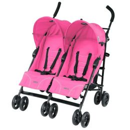 Mia Moda Facile Twin Stroller in Pink