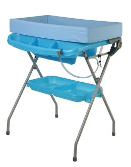 Dream On Me, 2 in 1 Baby Bather & Changing Station Combo, Blue