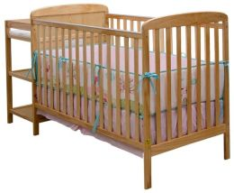 Dream On Me, 2 in 1 Full Size Crib and Changing Table Combo, Natural