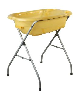 Dream On Me, 2 Position Baby Bather Bath Tub, Yellow