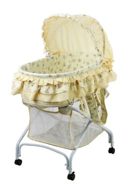 Dream On Me, 2 in 1 Bassinet To Cradle, Yellow