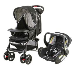 Dream On Me, Wanderer Travel System Stroller and Car Seat, Black
