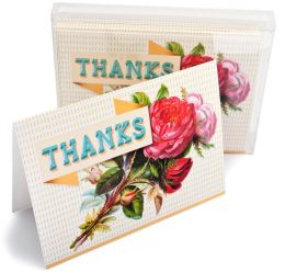 Roses Thanks Note Card Set of 6