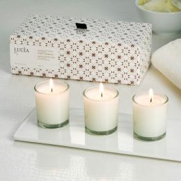 Goat Milk & Linseed Votive Trio Set