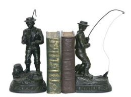 SI 93-3329 Pair Fish On Line Bookend