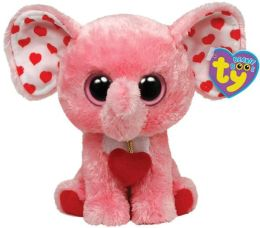 Ty Beanie Boo's Plush, Pink Elephant with Heart