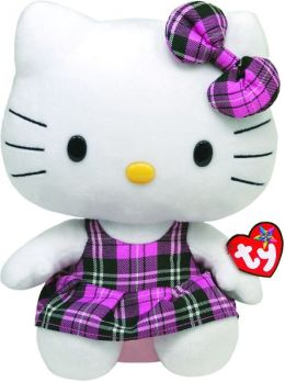 Hello Kitty Pink Plaid 9.5 inch Ty Beanie Babies Plush Doll