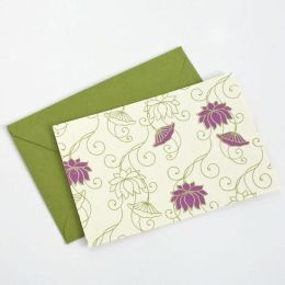 Flowering Vine Ivory Notes Set of 8