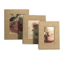 Faux Suede Photo Frame ? Red (set of 3) Set - Red