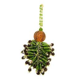 Emerald Beaded Tassel/Napkin Ring