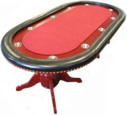 90 inch Texas Holdem Poker table w Raceway