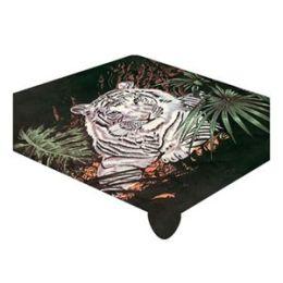 Acrylic Mink White Tiger Queen Blanket