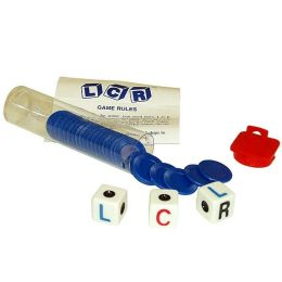 Left Center Right Dice Game - Blue