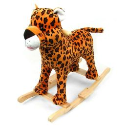 HAPPY TRAILST Plush Cheetah Rocking Animal