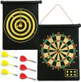 Product Image. Title: Magnetic Roll-up Dart Board and Bullseye Game with Darts