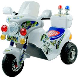 Lil' Rider Police Motorcycle Battery Operated - White
