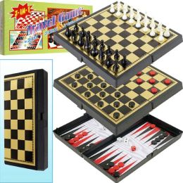 3-in-1 Magnetic Travel Game Set by Trademark Games