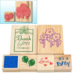 Trademark Games Wood Mounted Rubber Stamp 6 Piece Set