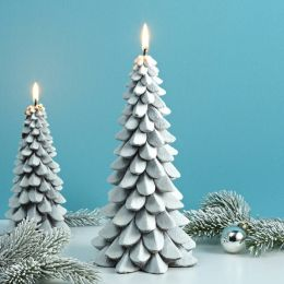 Medium Snowy Tree Candle, 9