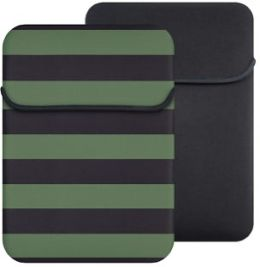 Reversible Laptop Sleeve in Two Tone Rugby Military Camo/Black Inside