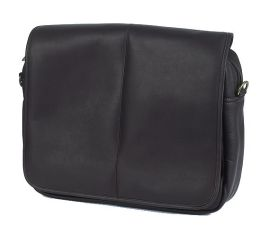 Claire Chase 167E-cafe Luxury Messenger Briefcase - Cafe