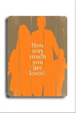 ArteHouse 0003-9047-31 How Much you are Loved Vintage Sign