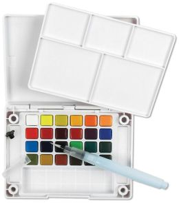 Koi Water Colors Pocket Field Sketch Box-24 Colors