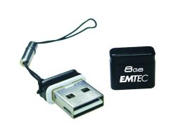 EMTEC S100 Micro Series 8 GB USB 2.0 Flash Drive (Black)