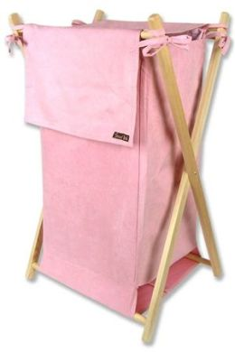 Trend Lab 21540 Hamper Set - Pink Suede