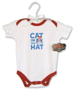 Trend-Lab 30088 BODYSUIT - CAT/HAT- RED 0-3