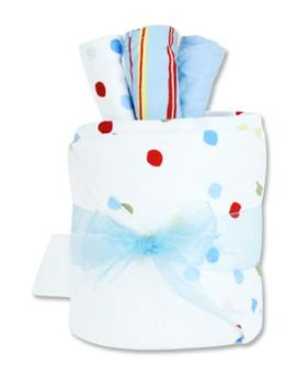Trend-Lab 30139 Gift Cake- Dr. Seuss One Fish Two Fish Hooded Towel