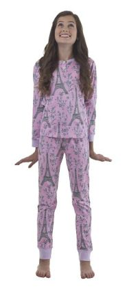 Pink & Grey Eiffel Tween PJ Set Size 12