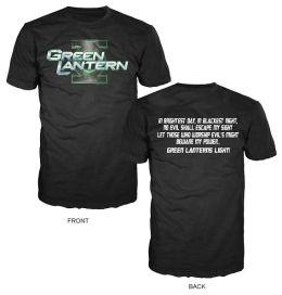 Green Lantern Name with Back Printed Oath On Black LG