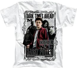 Harry Potter Dark Times Ahead Boys T-Shirt (Size Large)