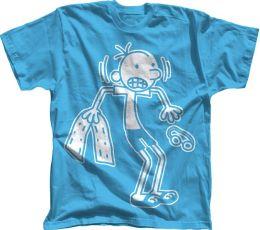 Diary of a Wimpy Kid ''Greg in Swim Gear'' Carolina Blue T-Shirt - L/XL