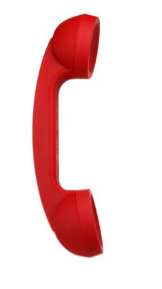 Native Union Bluetooth POP Phone Retro Handset - Flash Red Soft Touch