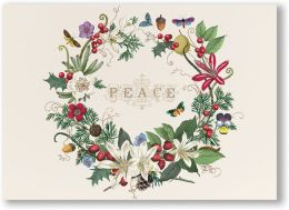 Wreath Peace Christmas Boxed Card