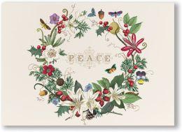 Wreath Peace Christmas Boxed Card