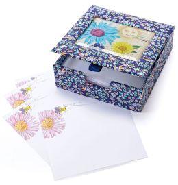 Printemps Fleur Glass Top Loose Notes 150 Sheets