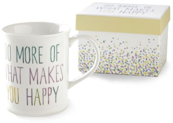 More Happy Porcelain Mug in Gift Box