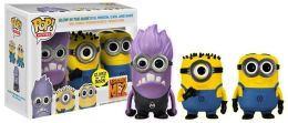 POP Movies (VINYL): Despicable Me 2 - 3pack (Carl, Dave, Glow Purple Minion)