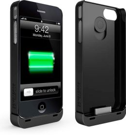 Boostcase Hybrid Snap-On Case & Detachable Extended Battery for iPhone 4/4S - Black